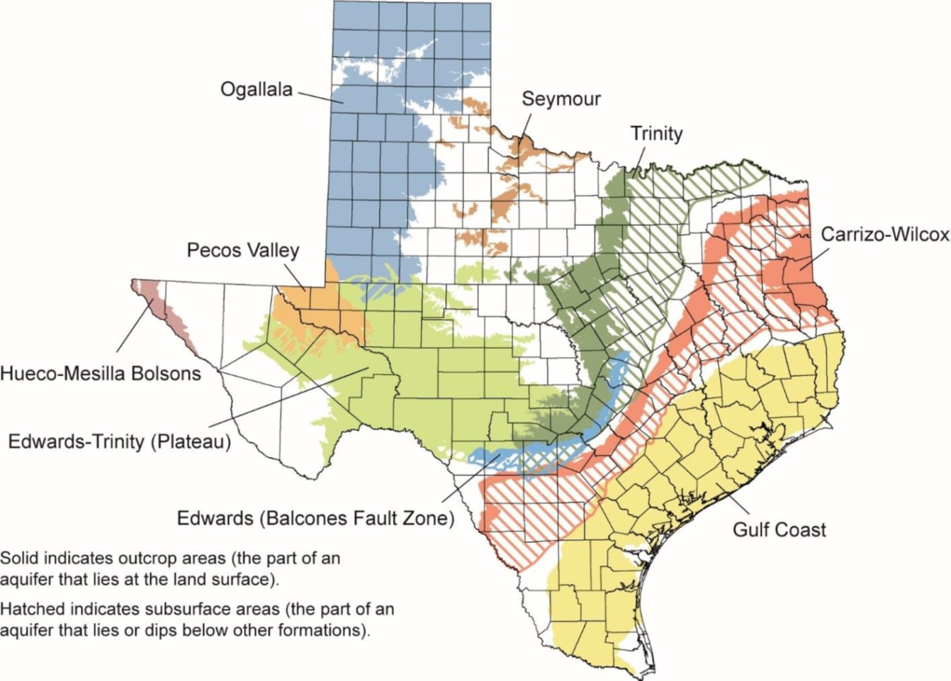Major Texas Aquifers